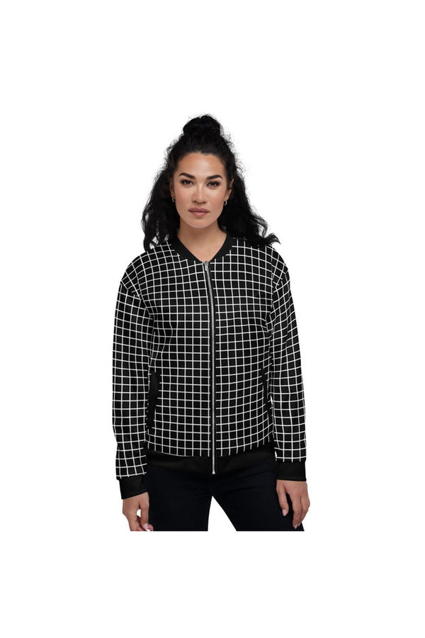 Grid at Air Mass Zero Unisex Bomber Jacket