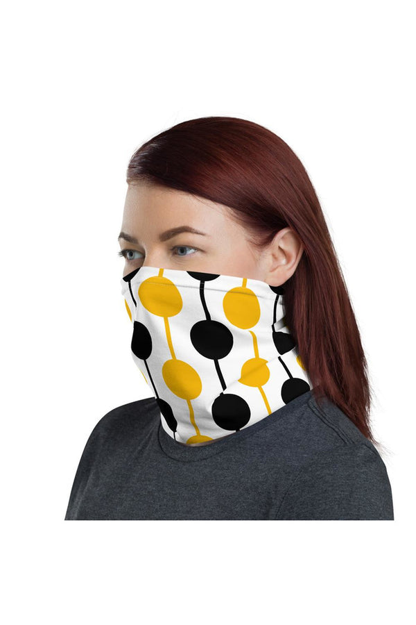 Abstract Black & Gold Neck gaiter