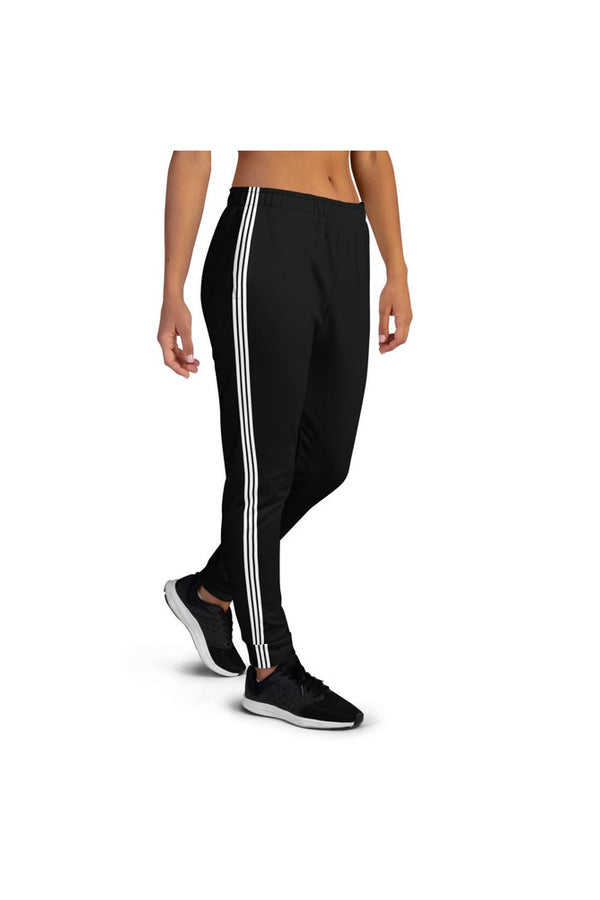 Triple Stripe Black Women's Joggers