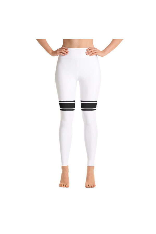 White Banded Yoga Leggings