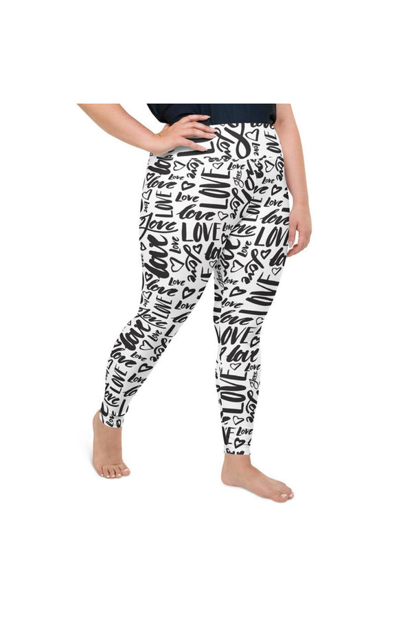 Love Love Love All-Over Print Plus Size Leggings