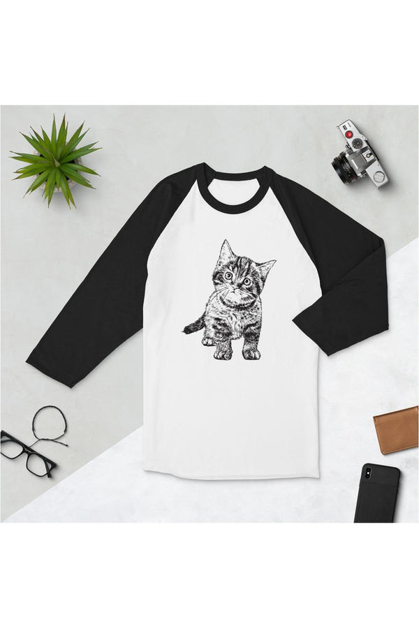 One Cup of Love Purr Kitty 3/4 sleeve raglan shirt