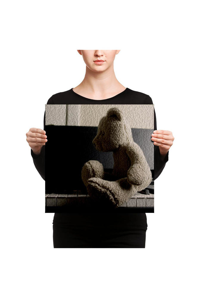 Teddy and the Piano Canvas