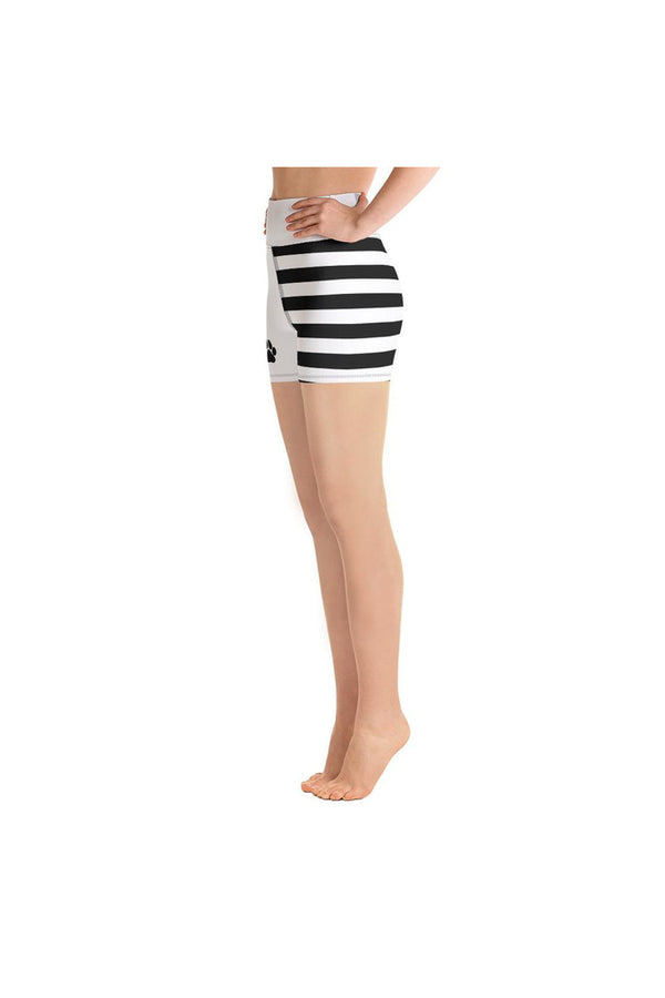 Paws & Stripes Yoga Shorts