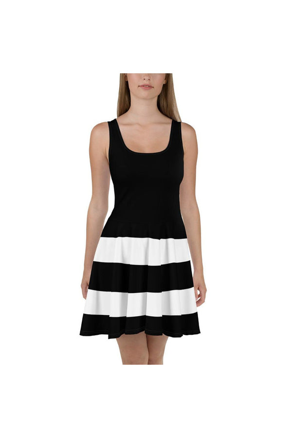 Striped Bottom Skater Dress