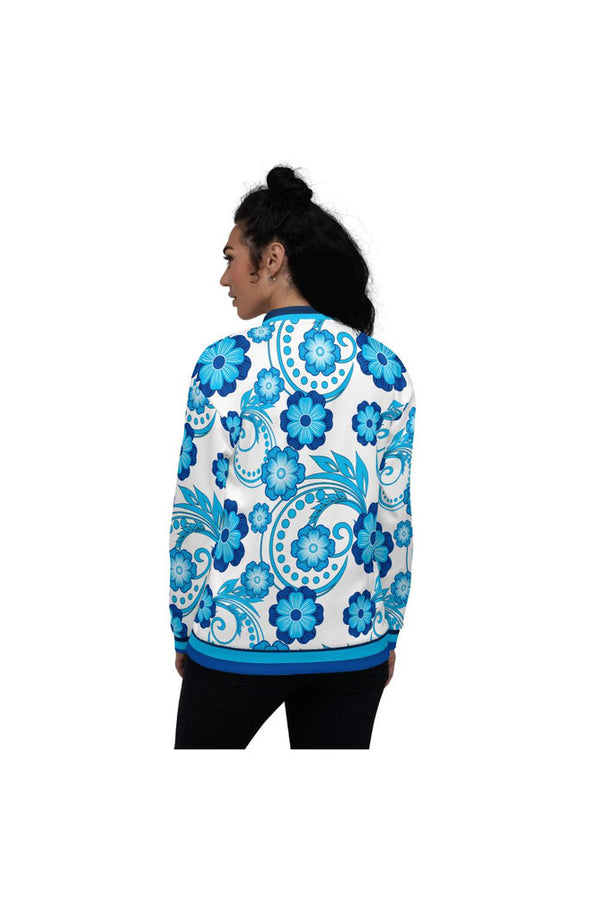 Floral Flair Unisex Bomber Jacket