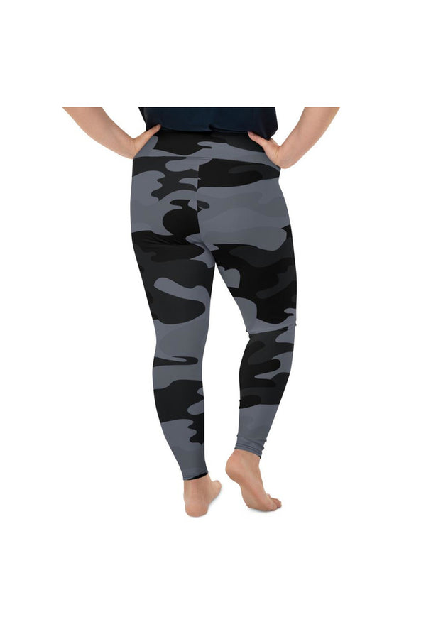 Blue Ink Urban Camouflage Plus Size Leggings
