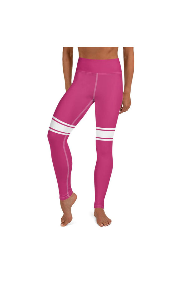 Peacock Pink Sporty Yoga Leggings
