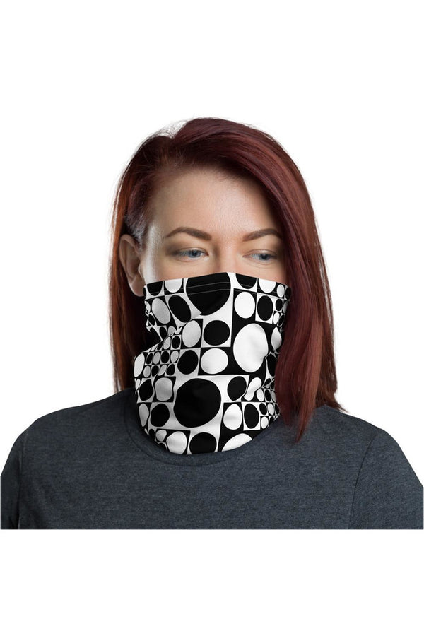 Black & White Spots Neck gaiter