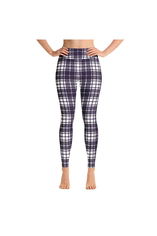 Plum Plaid Over You Yoga Leggings