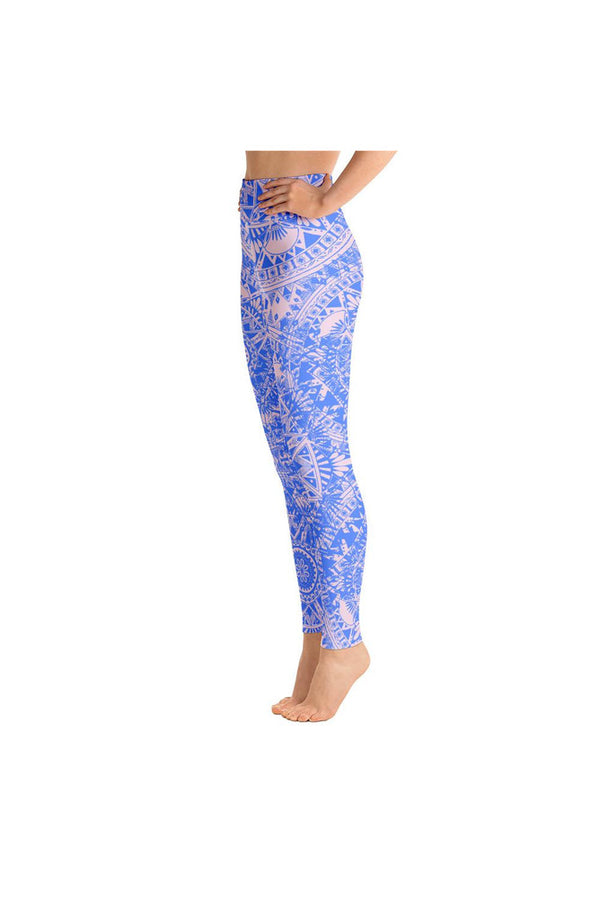 Pink & Blue Mandala Yoga Leggings