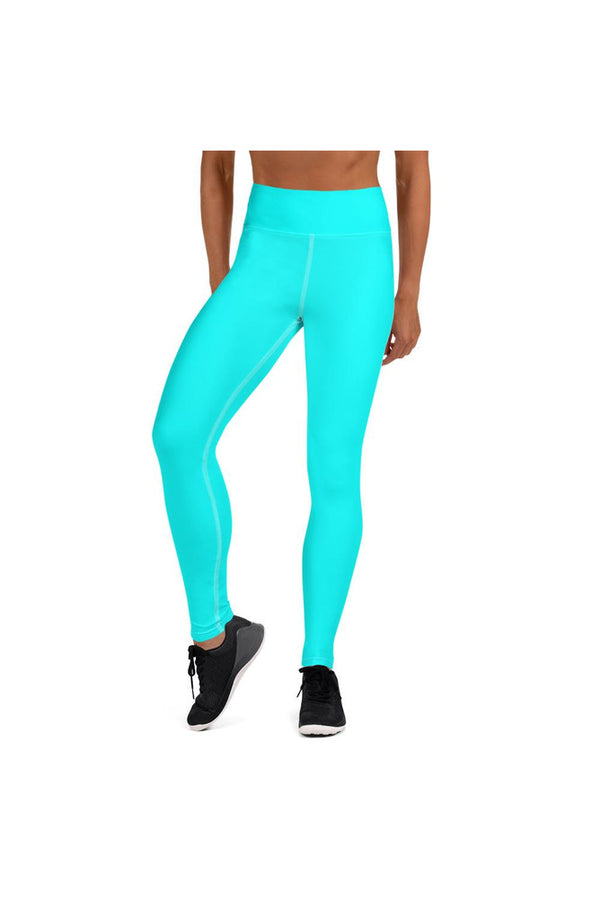 Aqua Blue Yoga Leggings