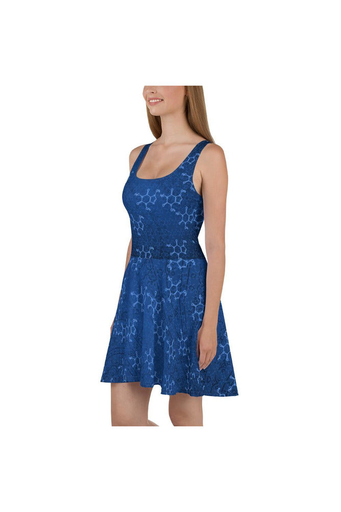 Caffeine Molecules & Mandalas Skater Dress