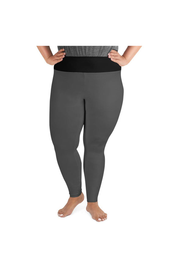 Dark Gray Streamline Plus Size Leggings