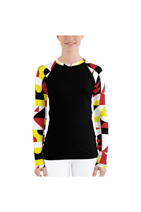 Abstract Women's Rash Guard