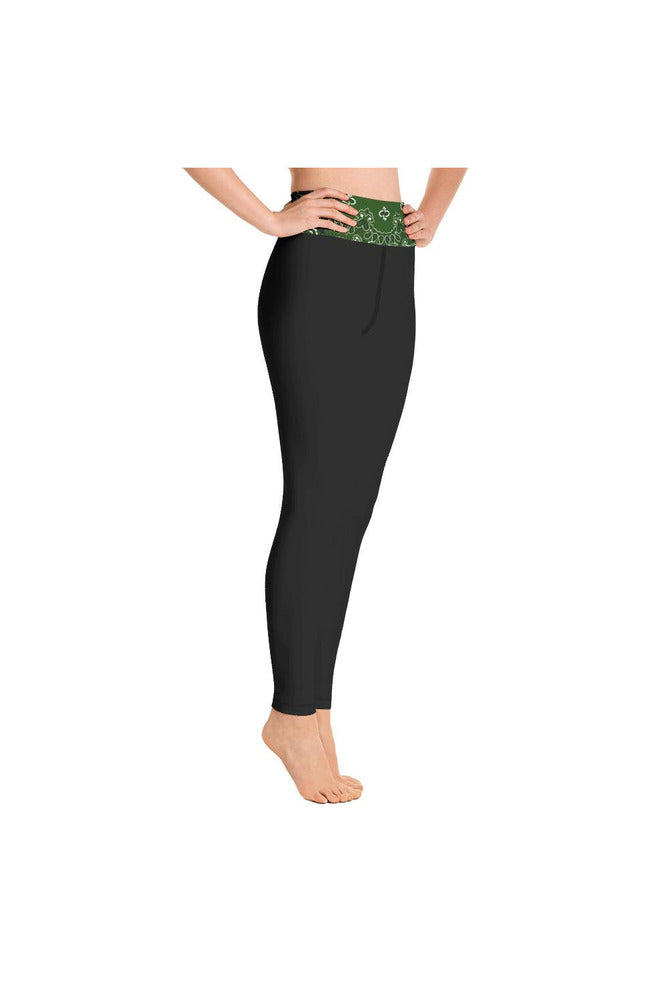 Green Bandana Yoga Leggings
