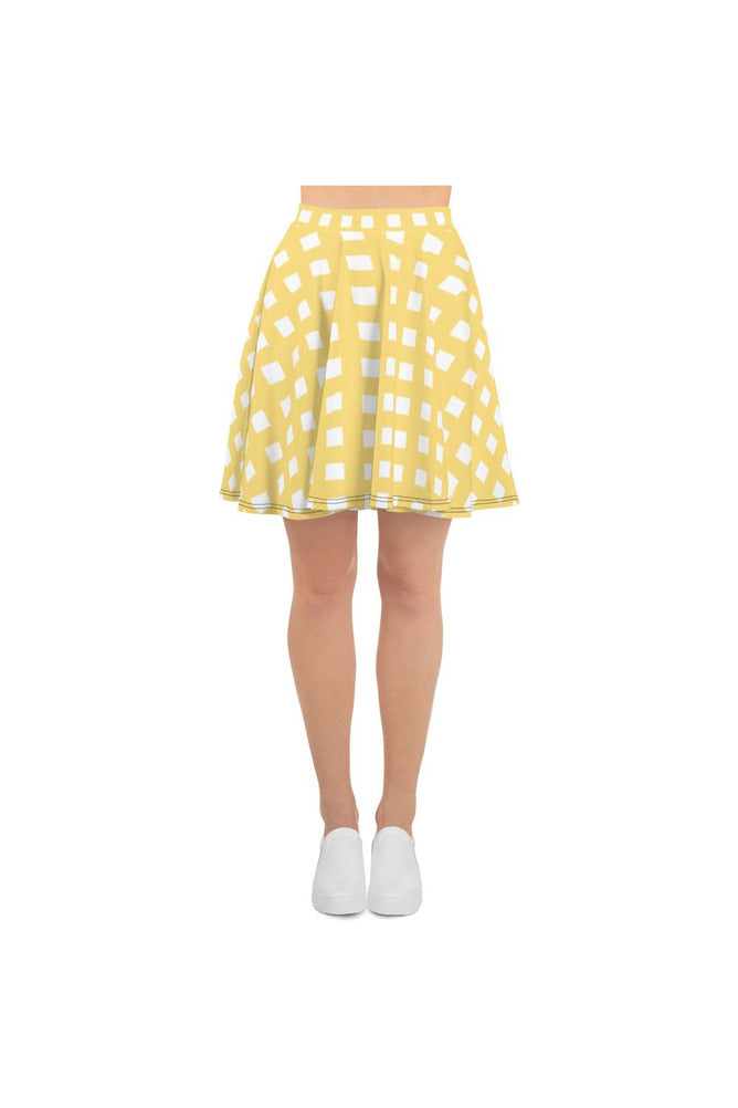 Golden Gingham Skater Skirt