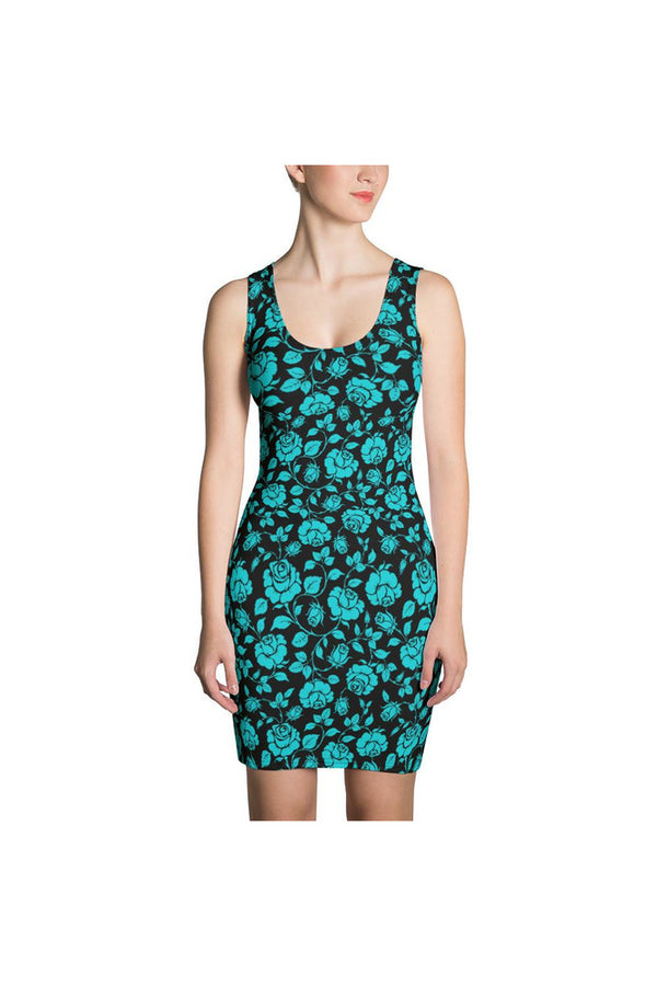 Aqua Roses Sublimation Dress