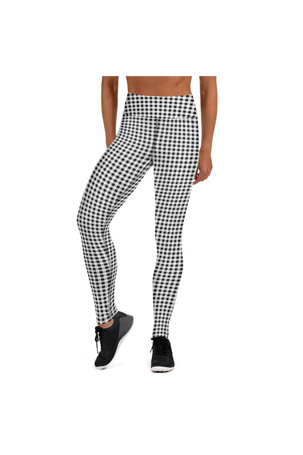 Black Gingham Yoga Leggings