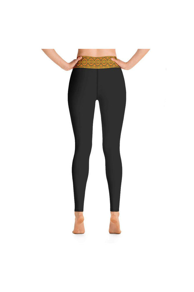 Kente Print Yoga Leggings