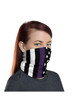 Thin Purple Line Neck gaiter