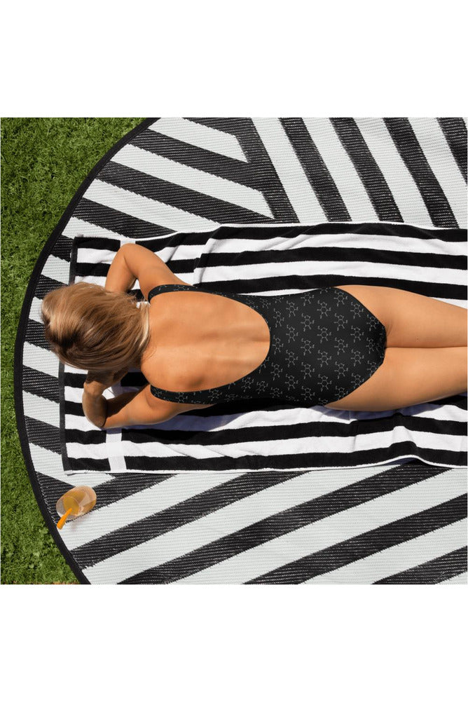Caffeine Molecule One-Piece Swimsuit