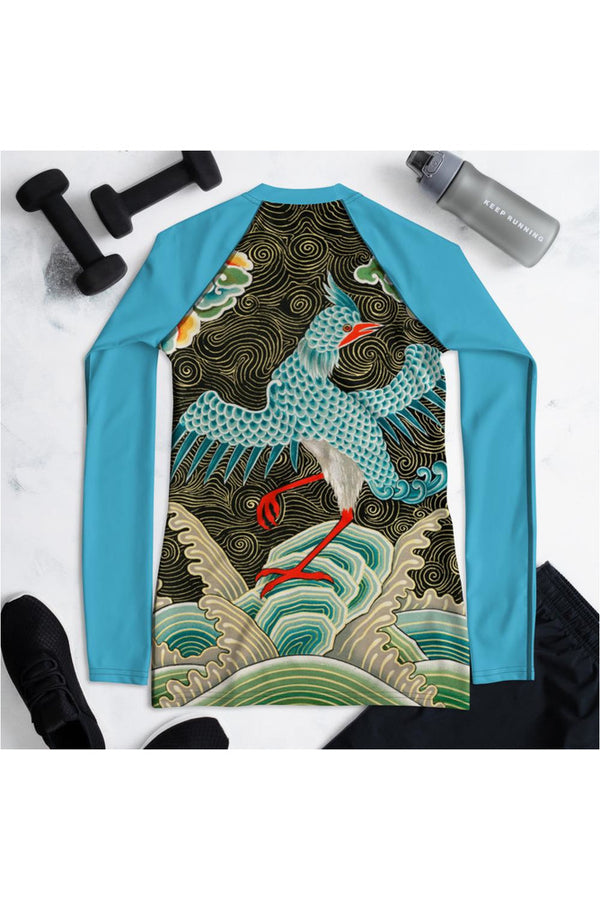 Chinese pattern from L'ornement Polychrome Women's Rash Guard