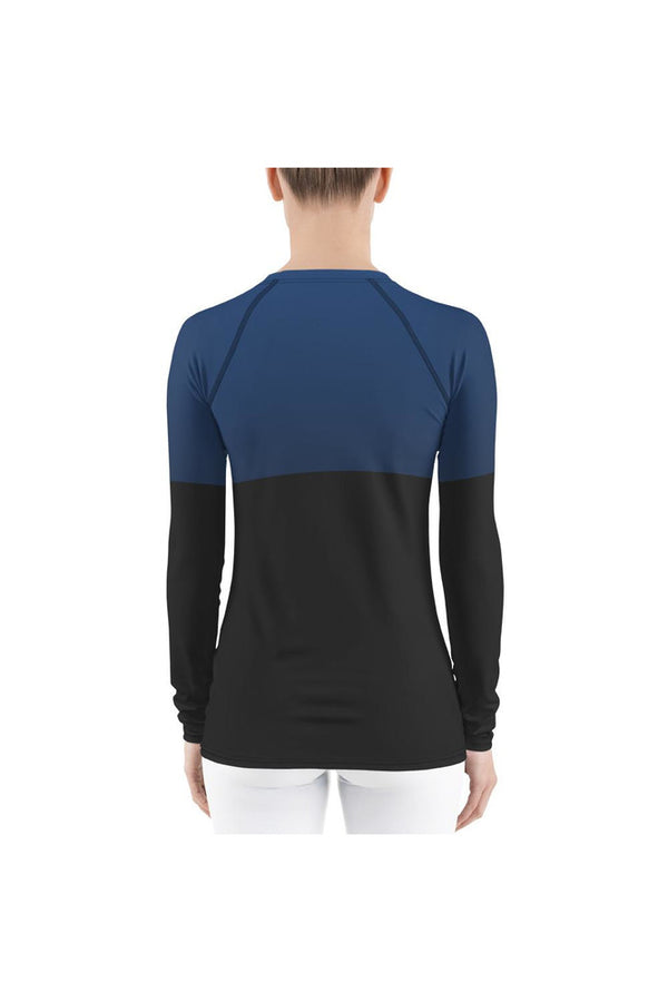 2 Tone Blue Women's Rash Guard