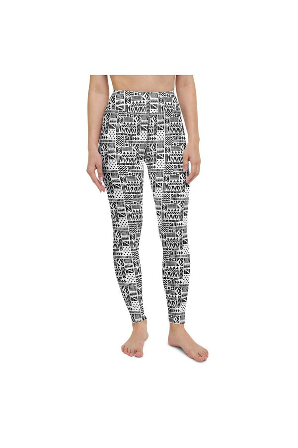 Aztec 2-Tone Yoga Leggings
