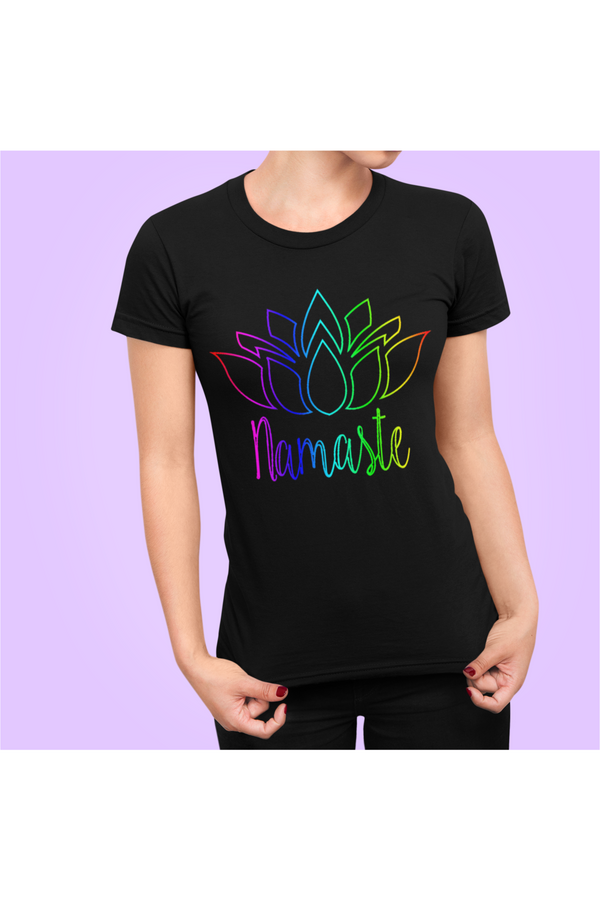 Namaste Rainbow Short-Sleeve Unisex T-Shirt