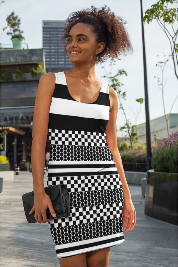 Striped Sublimation Cut & Sew Dress