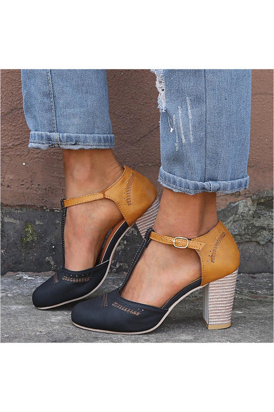 Round Toe Heel High Shoes Pumps