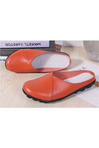 Genuine Leather Slip on Flats