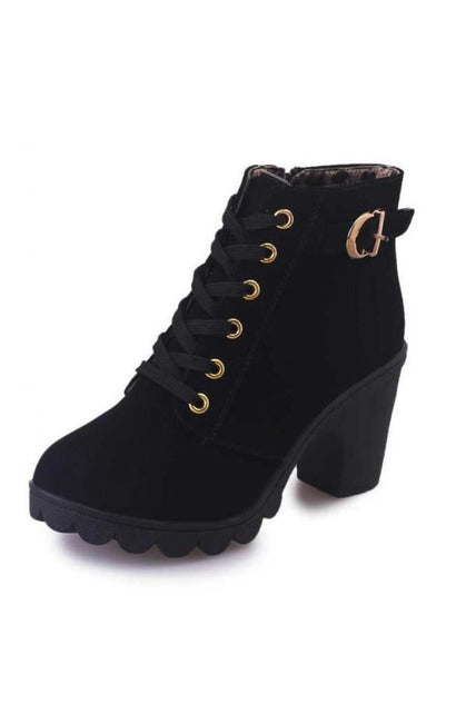 Waterproof High Heels  Ankle Boots