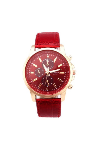 New Lovers' Leather Quartz Luxury Watches Unisex Analog Dial Sport Wrist Watch