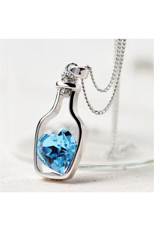 3-colors Heart Crystal Pendant Necklace - Objet D'Art Online Retail Store