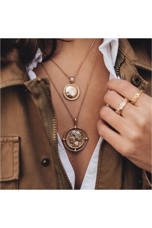 bohemian female double-layer necklace