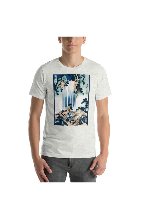 Yoro Waterfall in Mino Province by Katsushika Hokusai Short-Sleeve Unisex T-Shirt
