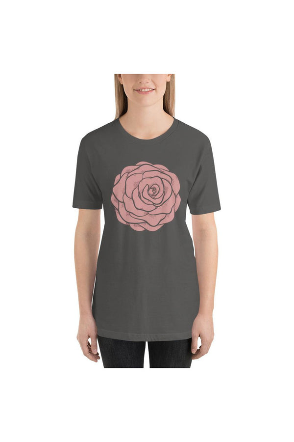 Pink Rose Short-Sleeve Unisex T-Shirt