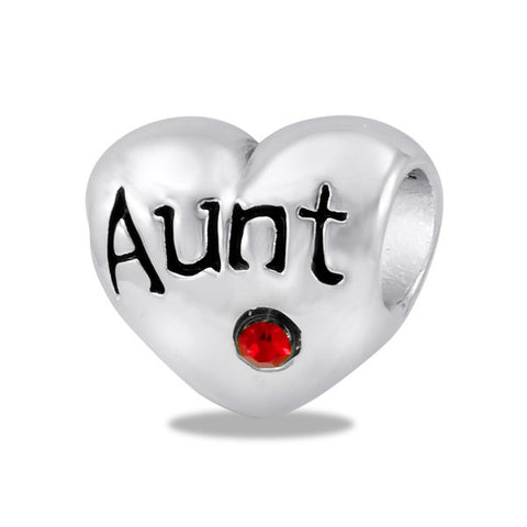 """Aunt"" Heart Bead by DaVinci"
