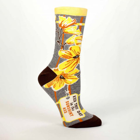 """Sunshiny Ass"" Women's Crew Socks"