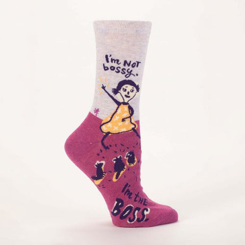 """I'm Not Bossy"" Women's Crew Socks"