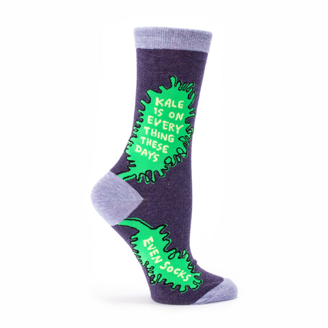 """Kale"" Women's Crew Socks"