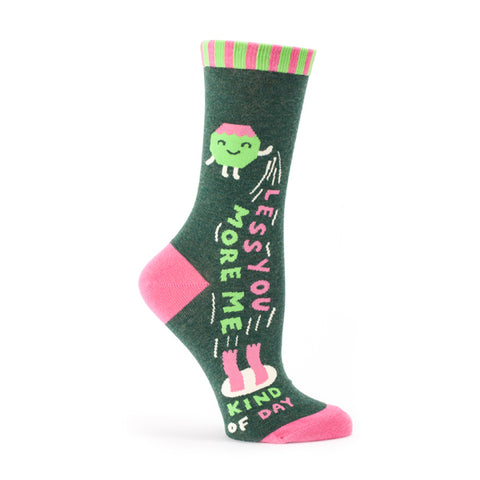 """Less You More Me"" Women's Crew Socks"