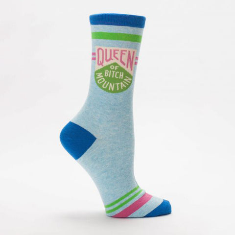 """Queen of Bitch Mountain"" Women's Crew Sock"