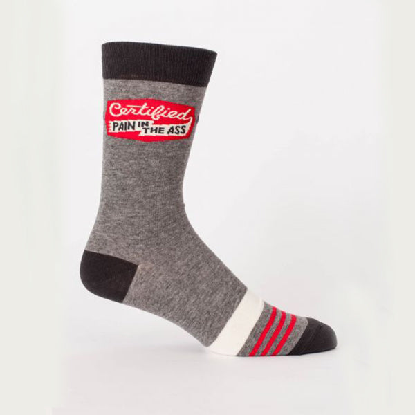 """Certified Pain in the Ass"" Men's Sock"
