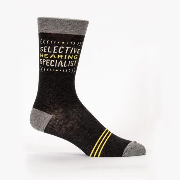 """Selective Hearing Specialist"" Men's Sock"