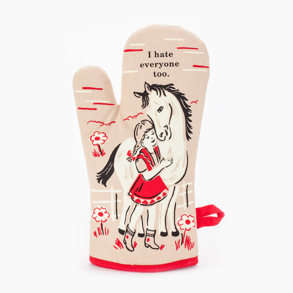 """I Hate Everyone Too"" Oven Mitt"
