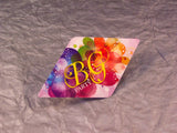 "Full Color 16pt 3.5x2"" Diamond Shape Business Cards"