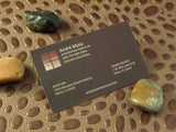 "Full Color 15pt 3.5x2"" Silk w/Spot UV Laminated Business Cards"
